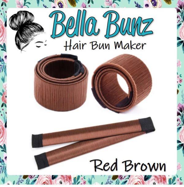 Bella Bunz Hair Bun Maker Red Brown