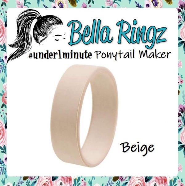 Bella Ringz Beige Ponytail Maker