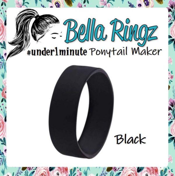 Bella Ringz Black Ponytail Maker